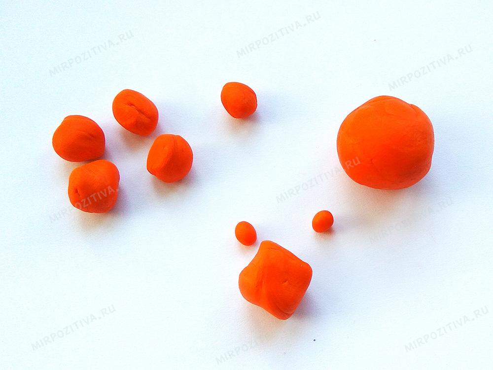 2 скатаем шарики