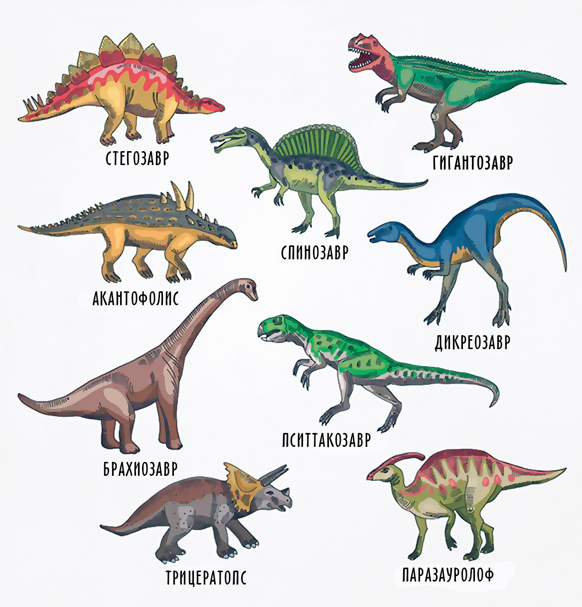 динозавры с названиями